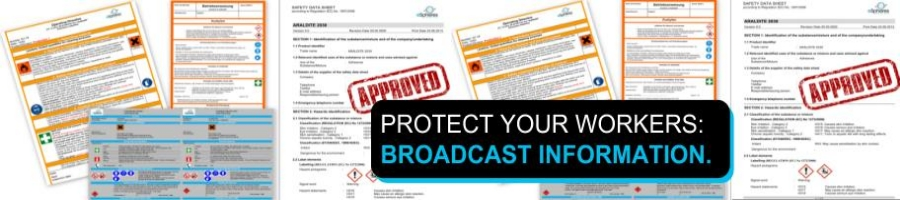 Protect your workers: broadcast information